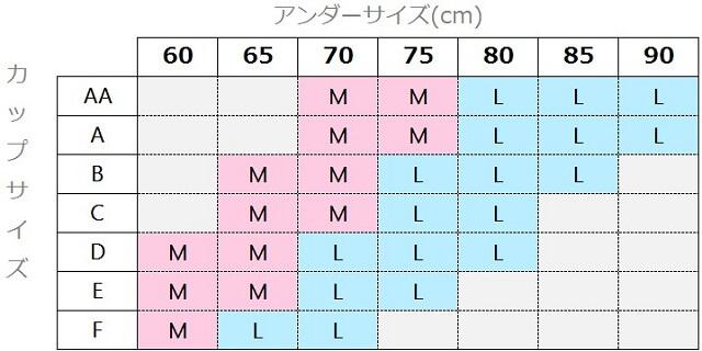 リントスタック作成のエクスグラマーのサイズ表