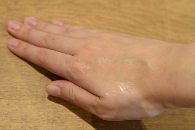 セルノートを塗った手